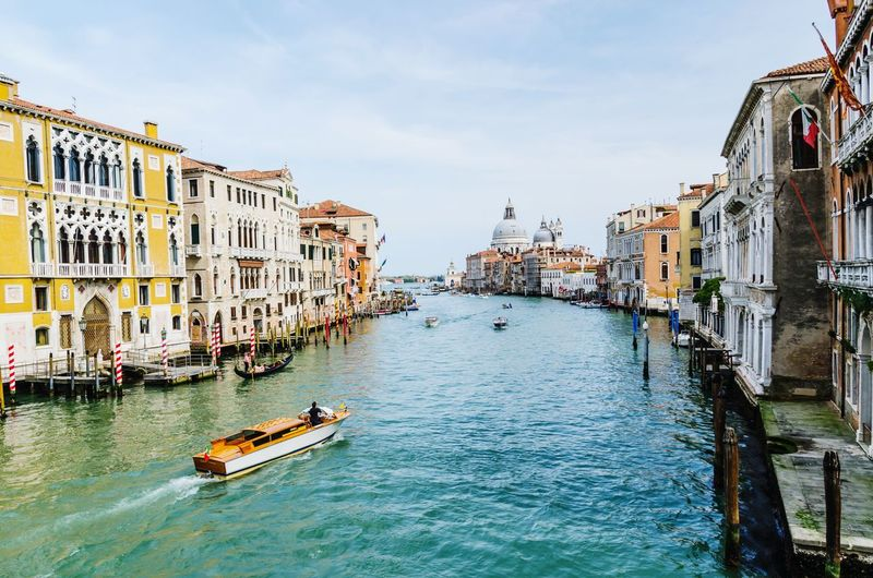 Venice, Italy Travel Destinations City Canal Sky Water Architecture Cloud - Sky Building Exterior Bridge - Man Made Structure Outdoors Gondola - Traditional Boat Cityscape Day No People Comfort
