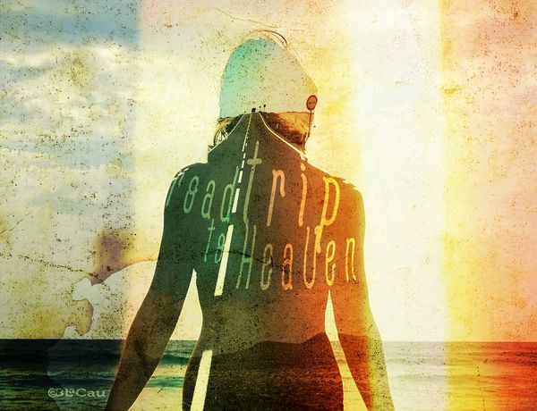Création graphique. Double exposition. Silhouette Double Exposure Photo Montage Graphic Design Graphism Enjoying Life Life Is A Beach