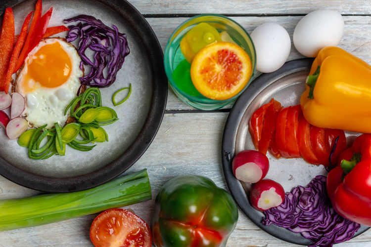 healthy eating Healthy Eating Healthy Lifestyle Eating Egg Breakfast Diet Dieting Food Vegetarian Food Vegetables Lunch Colorful Food Eco Bio Country Life Refreshment Essen Frühstück