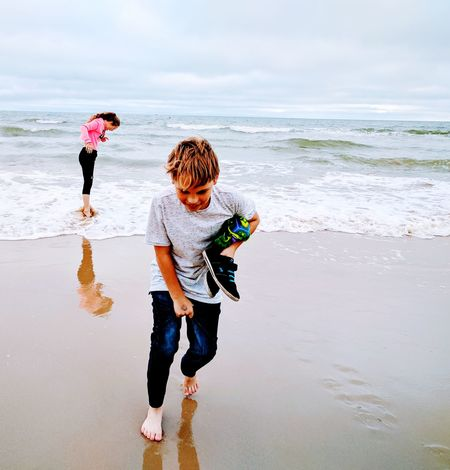 Beach Child Full Length Togetherness Sea Childhood Boys Day Water People Girls Fun Standing Waves, Ocean, Nature Waves Paddling Chasingemotions Ocean Shores Live Life Running Love Nature🌲