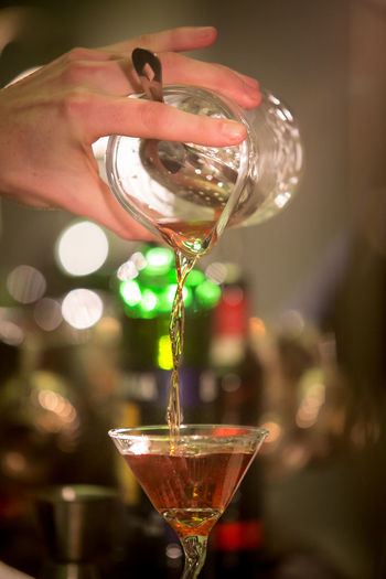 Cocktail Pouring Alcohol Alcoholic Drink Bartender Bartenderslife Bartender🍸🍻🍹 Bartending Close-up Cocktail Drink Drinking Glass Finger Focus On Foreground Food And Drink Glass Glass - Material Hand Holding Human Hand Indoors  One Person Pour Pouring A Drink Real People Adventures In The City