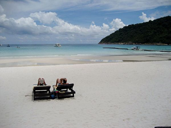 Island Life Blue Skies Crystal Clear Waters Relaxation Tranquil Scene Calm Sea Sand Powdery White Sand Vacations Malaysia Pulau Redang Pristine Beach Resting Sunbathing Private Beach