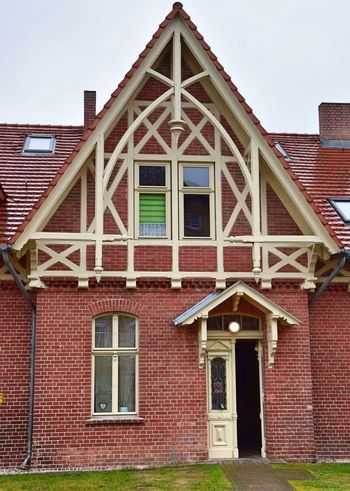 Architecture Art And Craft ArtWork Historical Building Schwärzetal Spechthausen Architecture Brick Building Building Exterior Built Structure Day Detail Half Timbered House No People Old Buildings Outdoors Roof Sky Wood - Material