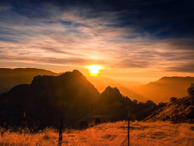 Mountain High Majestic Three Rivers Blossom Mountain Top Sunset Nature Mountain Sun Landscape Sky Dramatic Sky Scenics Beauty In Nature Cloud - Sky Tree Mountain Range Outdoors Sunlight No People Rural Scene Day