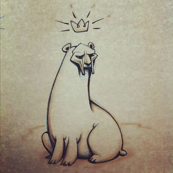 (V2) MF polar bear #cosmicrappertotemanimal #doodle #sketch #mfdoom #unicorns Art Drawing Doodle Sketch Unicorns Etc Mfdoom Cosmicrappertotemanimal