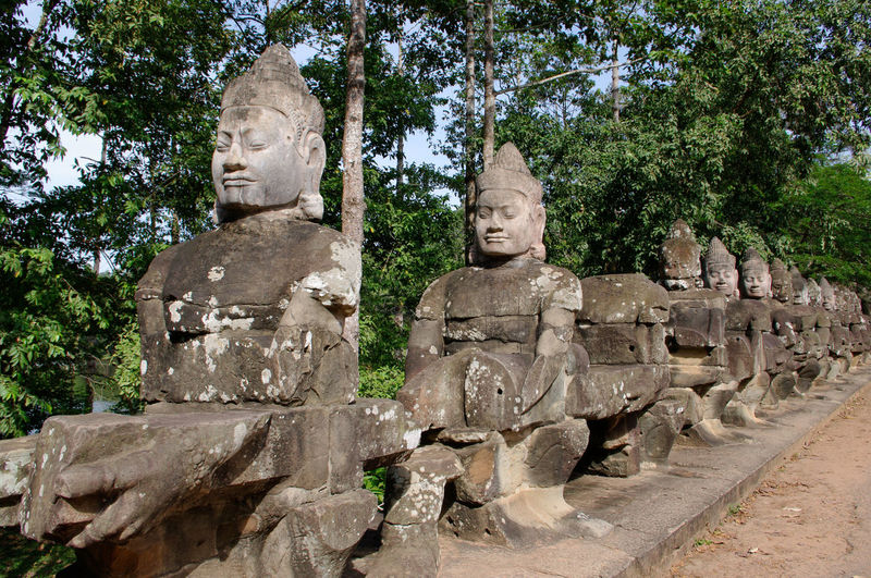 Angkor Ancient Civilization Angkor Art And Craft ASIA Asian Culture Cambodia Culture Figures Of Stone History Religion Sculpture Statue Stone Stone - Object Temple