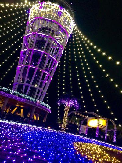 Enoshima Seacandle Illumination Light Tower Japan