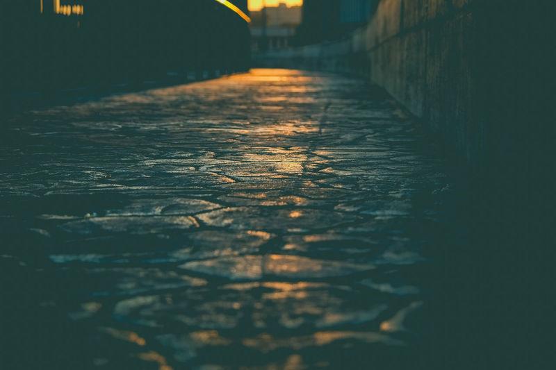 bridge over the railway in Milan in Bicocca district Bicocca Blurred Motion Bridge City Cityscape Journey Landscape Milano Orange Color Road Silhoutte Street Street Light Street Photography Suburbs Sun Sunlight Sunset Sunshine Town Urban Scene Yellow