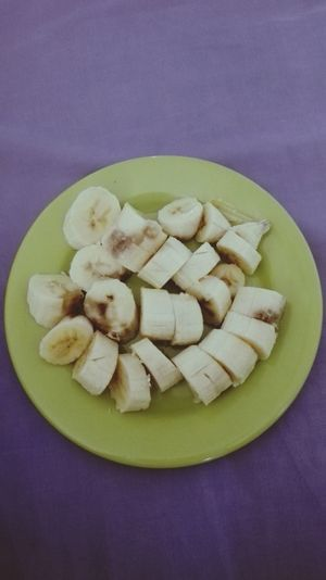 Healthy Eating SLICE Food Colored Background Fruit Sweet Food Freshness No People Indoors  Ready-to-eat Day Banana
