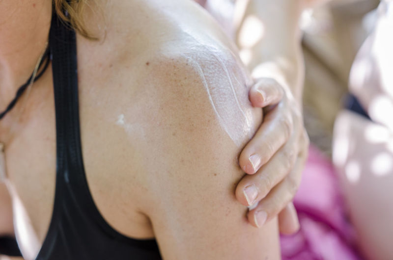 Close-Up Of Lotion On Skin