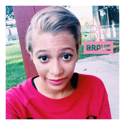 So when I first got my hair cut I was so sad the lady cut my hair off. The back was way shorter than I wanted. (It's pretty short lol) But with help from friends and family realized it's all good. I love them for that. So yep this is my new hair do. 😜 Newhair Instasize Bravestyear Seveenteenmag