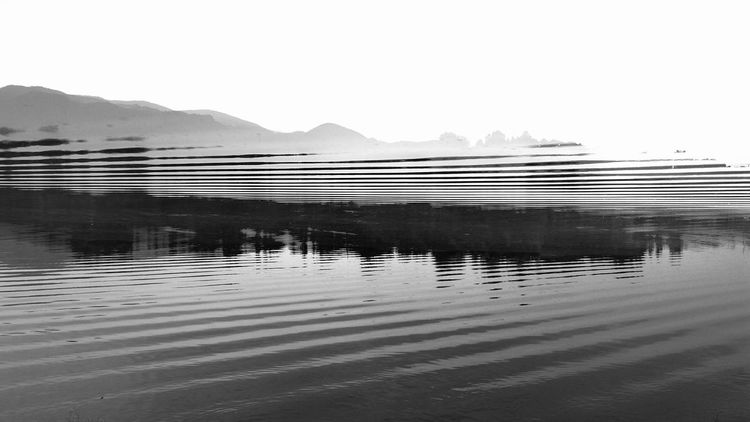 Double Exposure Undulation Undulating Waves Sound Abstract Landscape Abstract Photography DreamScapes Blackandwhite Water Mountain Lake Reflection Sky Landscape Mountain Range