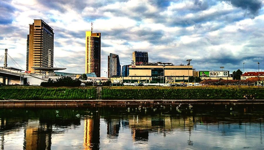 Bubbly city - Vilnius Bubbles Capital City Culture Real Estate Skyscrapers River Evening Europe Neris Moment Stopping Time Cozy Cozy Place Sky Clouds