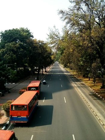 Roads of Jakarta. · Street Buses Perspective Horizon Urban Landscape