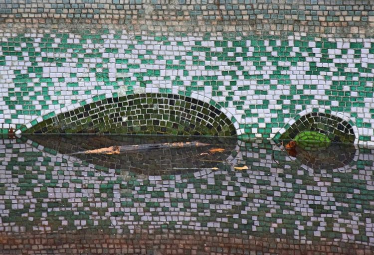 Architecture Built Structure Day Modern Mosaic Mosaic Art No People Outdoors Reflection Schlosspark Schönhausen Water Well  Art Is Everywhere