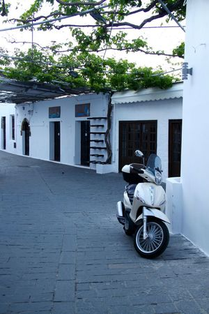 Lindos Architecture Architecture Building Exterior Built Structure Greece Greece Street Land Vehicle Lindos Mode Of Transport Motorcycle Rhodes Ródos Scooter Street Town Transportation Whitewashed Transportation Mode Of Transportation Architecture City Motorcycle Building Scooter Motor Scooter Outdoors