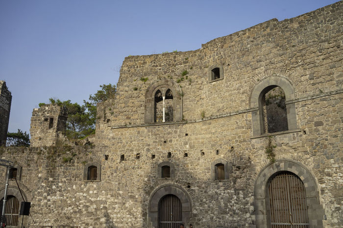 Castle Ancient Arch Architecture Building Exterior Built Structure Clear Sky Day History Low Angle View No People Old Sky The Past Travel Destinations Wall Window