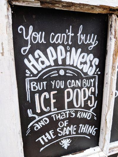 Yeap :) Advertisement Sign Ice Pops Ice Popsicle Cold Treat Random Wisdom Chalk Chalkboard Art Typography