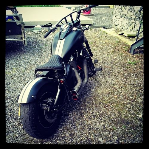 Bluecollardbobber Custom Black Motorcycle MatBlack