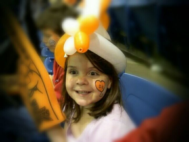 Watching Hockey Hockey Lancers  Father And Daughter Balloons Eye4photography  EyeEm Best Edits