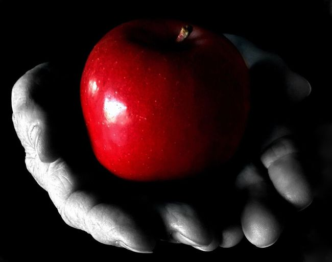 Apple of the Eye Apple Color B&W Apple Fruit Red Apple Apple Of My Eye