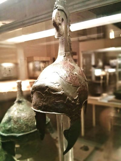 Bronze Greek Soldier Helmet at the Cyprus Museum in Nicosia