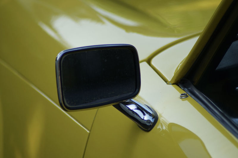 High angle view of side-view mirror