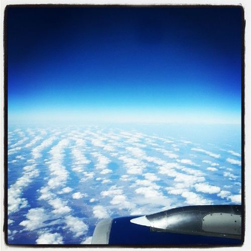 From the sky... Blueskies Clouds Plane Neworleanstolosangeles ourroadtrip