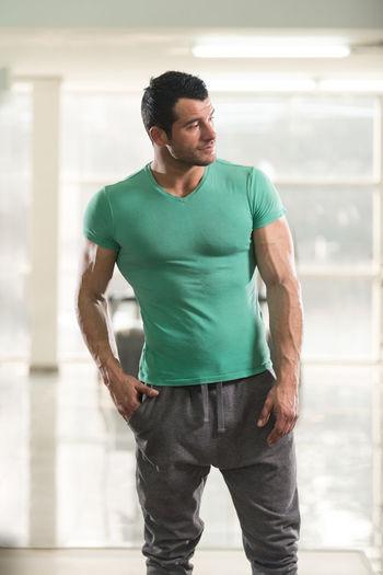 Full length of man standing indoors