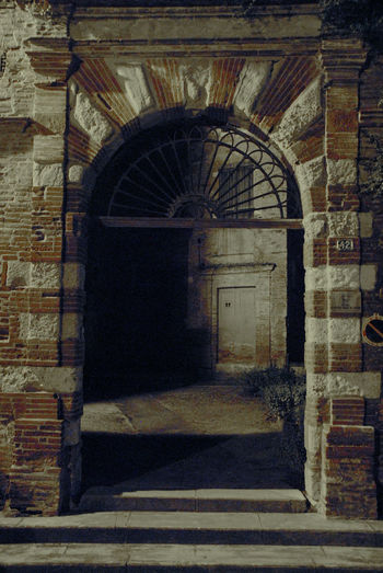 Entrance of old building