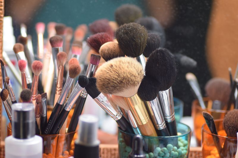 Close-up of brushes