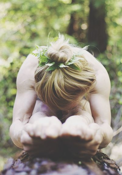 In The Forest Yoga Fairy Leaves Hair Toes Fantas
