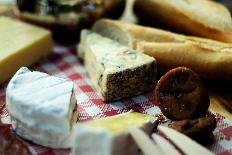 Cheese Cheese! Bread Breakfast Cheese Choice Close-up Dairy Product Delicate Food Food And Drink French Food Freshness Healthy Eating Indoors  Indulgence Meat No People Ready-to-eat Selective Focus Snack Still Life Table Temptation Variation Wellbeing