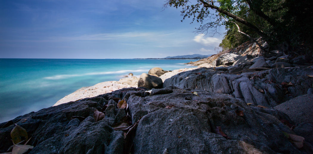 nice landscape in khao lak thailand Holiday Travel Beach Beauty In Nature Horizon Over Water Landscape Landscape_photography Long Exposure Nature Nice Place No People Outdoors Sea Sky Water