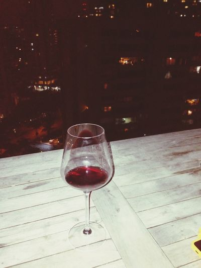Great view. Sipping away my sorrows. Wine Time