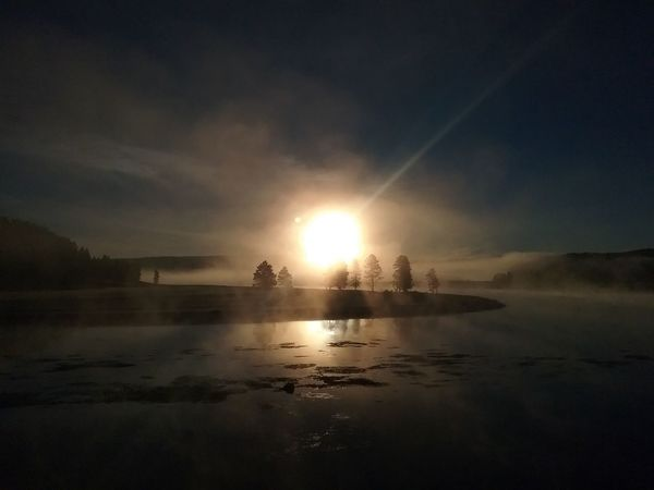 Frosty sunrise on the Yellowstone River Autumn Sunrise Fire In The Pines Misty Morning Morning Glory Morning Glow Morning Magic Morning Reflections Sunrise Yellowstone River Sunrise First Eyeem Photo