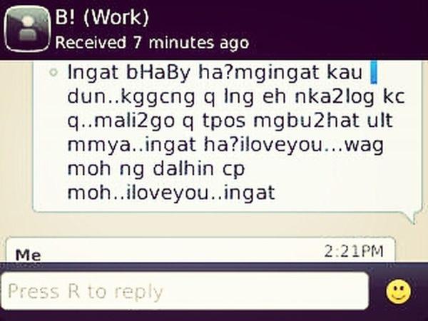 ang sweet niya! nakakainis!!