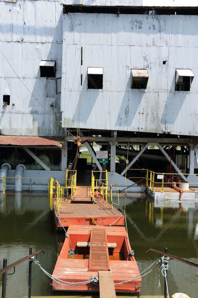 the last tin ore dredger in Perak Floating Platform Machines Perak Blue Sky And Clouds Day Dredger Ship Mining Industry Mining Town No People Outdoors Tanjung Tualang Tin Mine Tin Ore Built Structure Architecture Water Bridge - Man Made Structure Waterfront Nautical Vessel Building Exterior