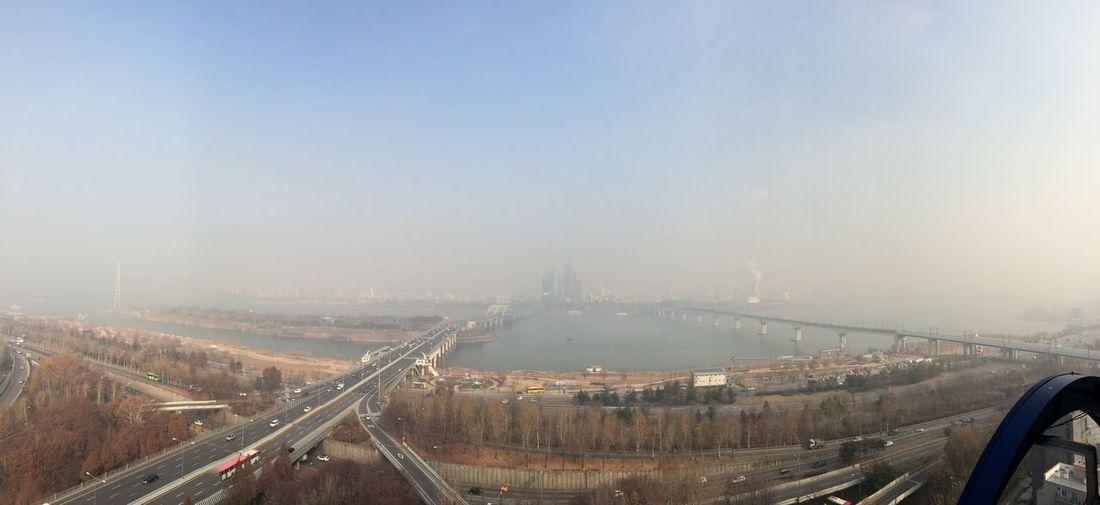 Seonyudo Park Sky Panorama 하늘 파노라마 도시 City River Han River 한강 선유도 선유도공원 안개 Fog Mist