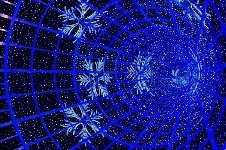 Full frame shot of blue light painting