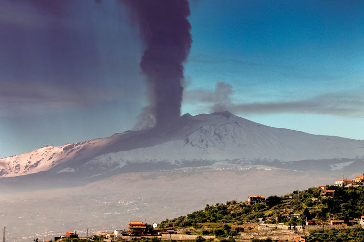 Mountain Volcano Sky Erupting Smoke - Physical Structure Environment Geology Landscape Beauty In Nature Nature Land Emitting Building Exterior No People Scenics - Nature Architecture Cloud - Sky Power In Nature Power Non-urban Scene Outdoors Volcanic Crater Mountain Peak Air Pollution Pollution