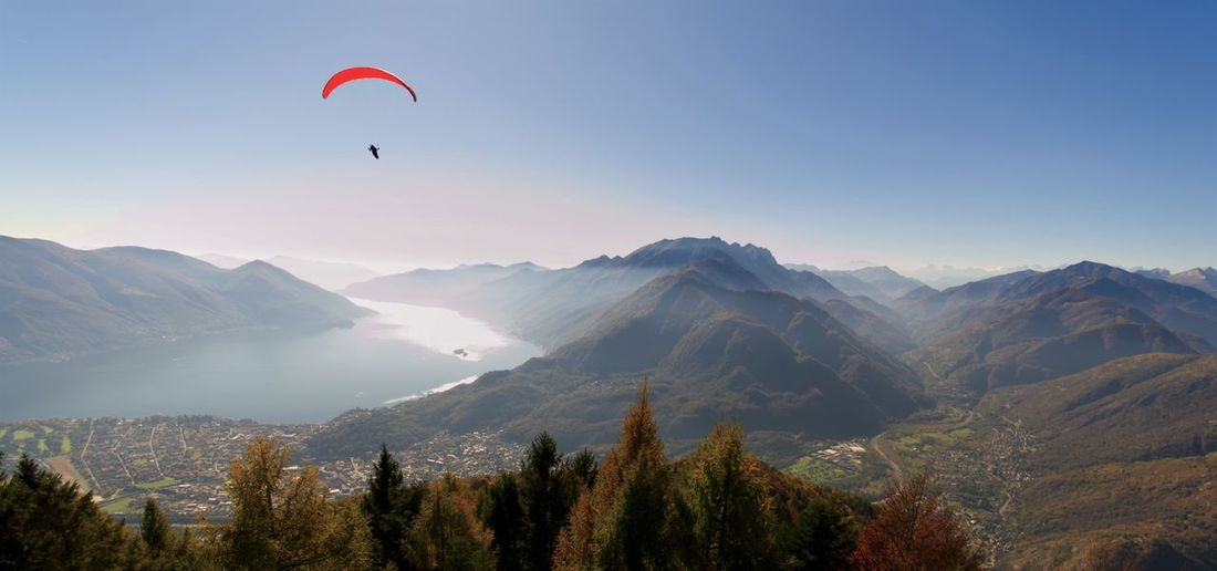 Autumn in Ticino (Switzerland) Autumn Nature Panorama Paragliding Ascona Day Eternity Lago Maggiore Landscape Locarno Outdoors Sky Switzerland