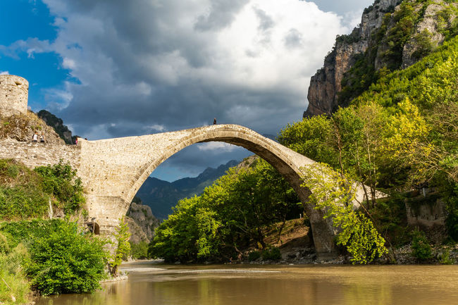 The old bridge of Konitsa.. Arch Arch Bridge Architecture Beauty In Nature Bridge Bridge - Man Made Structure Brigde Built Structure Cloud - Sky Connection Day Epirus Greece Nature No People Plant River Scenics - Nature Sky Tranquility Tree Water Zagori