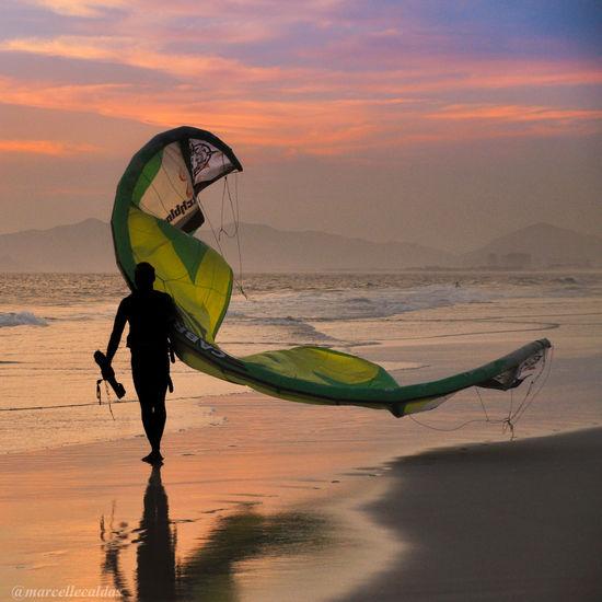 Sport In The City Rio De Janeiro Barra Da Tijuca, Rio De Janeiro Kitesurfing Sunset Sunset_collection Adventure Club On The Way 43 Golden Moments