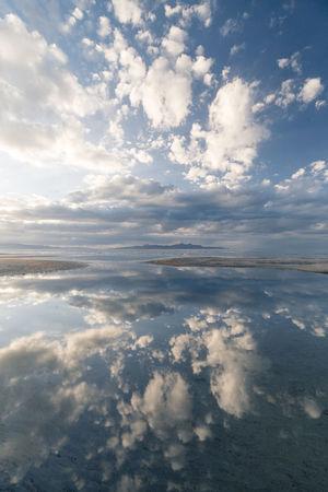 Reflection Water Tranquility Cloud - Sky Landscape Nature Tranquil Scene Sky Horizon Over Water Utahgram UtahisRad The Great Salt Lake