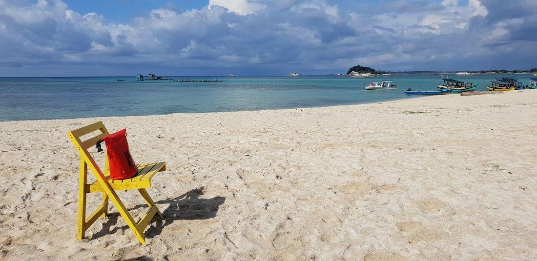 Just enjoy life Travel Photography Samsungphotography Belitung Island INDONESIA Yellow EyeEm Selects Water Sea Beach Sand Relaxation Summer Blue Sun Idyllic Sunbathing Beach Holiday The Traveler - 2018 EyeEm Awards The Great Outdoors - 2018 EyeEm Awards