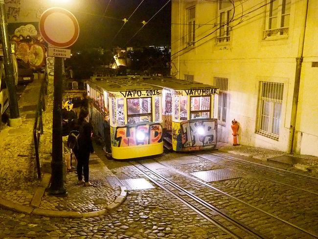 The streetcars of Lisbon. Lisbon City Life Lisbon - Portugal Olympus Om-d E-m10 August 2016 Lisbon Streets Lisbonnight Nightphotography Lisbon At Night Tramcars