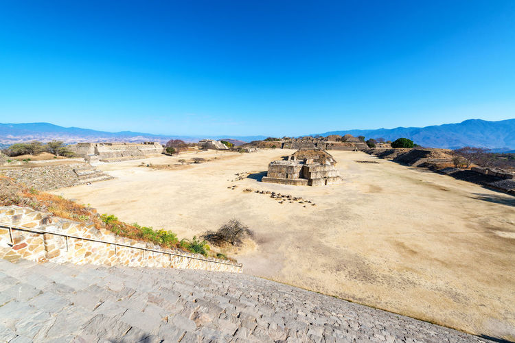 View of the ancient ruins of Monte Alban in Oaxaca, Mexico Architecture Cityscape Hills Mayan Mayan Ruins Mexico Oaxaca Oaxaca México  Pyramid Rock Ruins Temples Travel Building Maya Monte Alban Mountain Old Platforms Rocks Ruin Stone Stones Temple Tourism