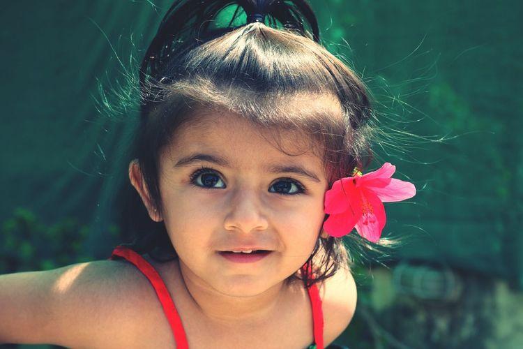 Cute, Close-up Littlegirl Innocence Pink Color Childhood