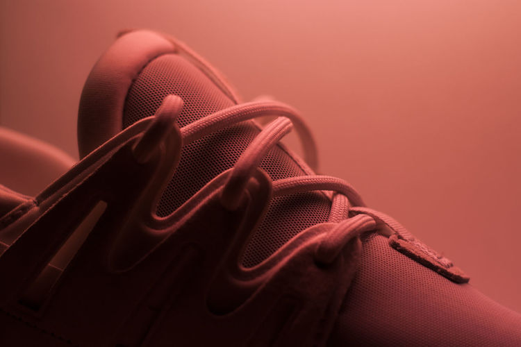 Aestethic Close-up Colour No People Pink Sneakers Studio Shot Tied Knot